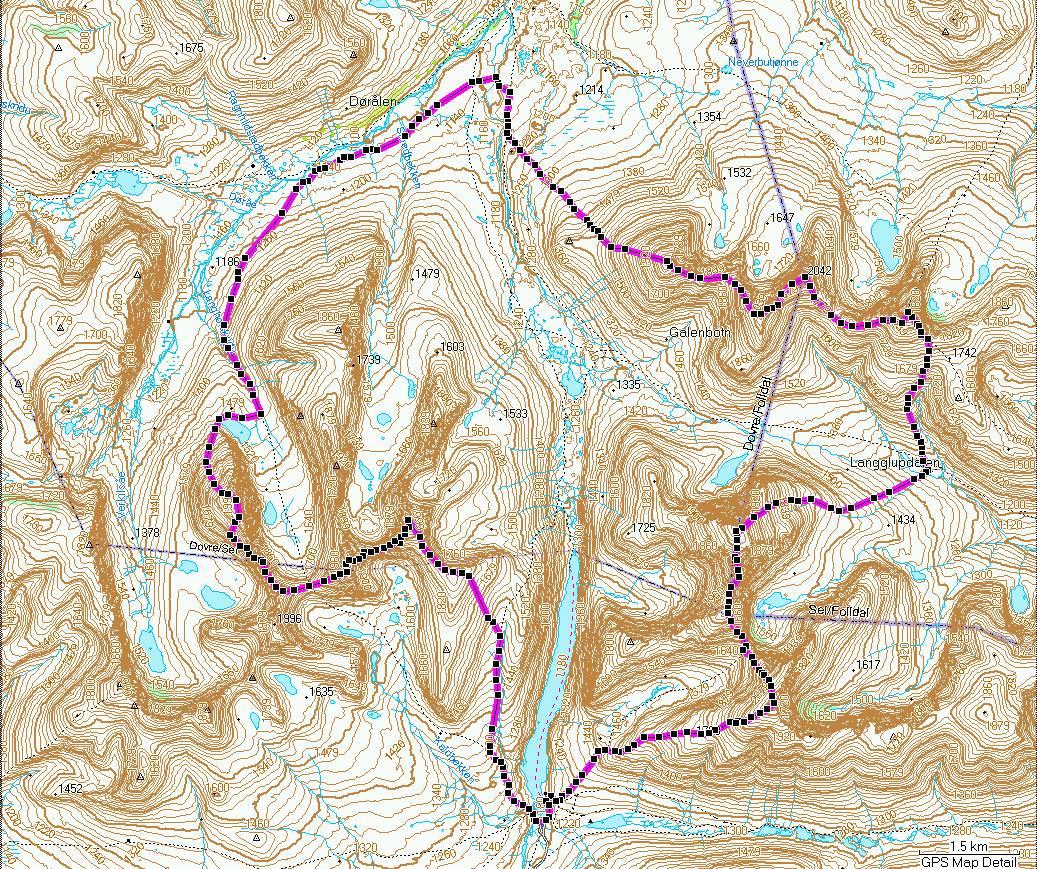 Min tur over Rondanes 2000-metere