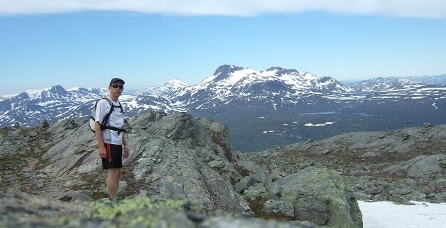 På toppen av Geithøtta, med Snota i bakgrunn.